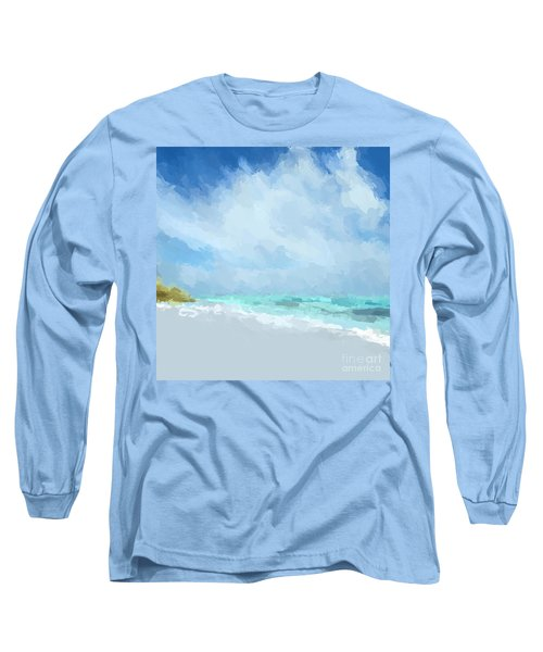 Abstract Beach Afternoon  Long Sleeve T-Shirt by Anthony Fishburne