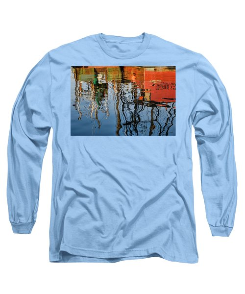 Abstract Boat Reflections Iv Long Sleeve T-Shirt