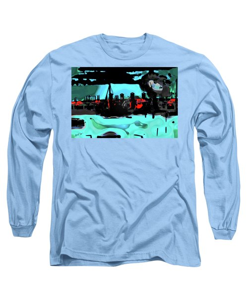 Abstract Bridge Of Lions Long Sleeve T-Shirt