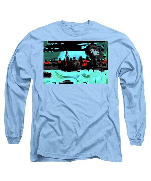 Abstract Bridge Of Lions Long Sleeve T-Shirt