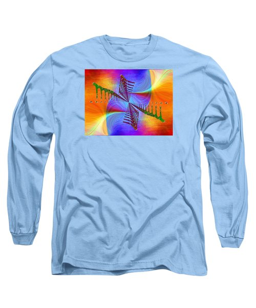 Long Sleeve T-Shirt featuring the digital art Abstract Cubed 372 by Tim Allen