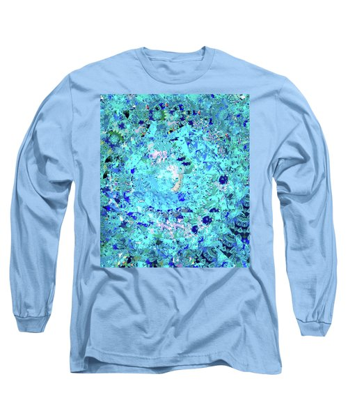 Abstract In Blue No. 56-2 Long Sleeve T-Shirt