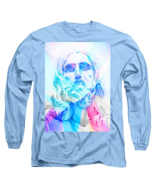 Long Sleeve T-Shirt featuring the painting Abstract Jesus 3 by J- J- Espinoza