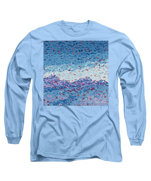 Abstract Landscape Painting 1 Long Sleeve T-Shirt by Gordon Punt