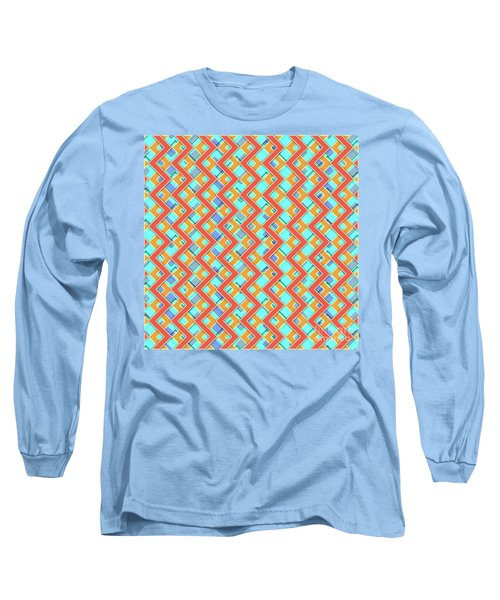 Abstract Orange, Cyan And Red Pattern For Home Decoration Long Sleeve T-Shirt