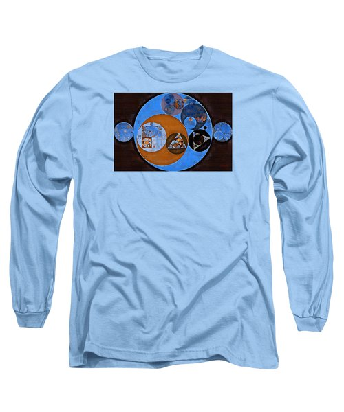 Abstract Painting - Rock Blue Long Sleeve T-Shirt