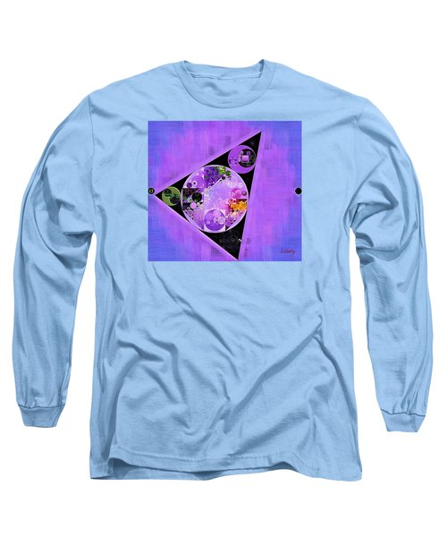 Long Sleeve T-Shirt featuring the digital art Abstract Painting - Slate Blue by Vitaliy Gladkiy