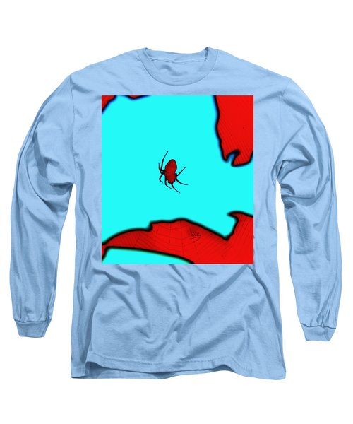 Abstract Spider Long Sleeve T-Shirt by Linda Hollis