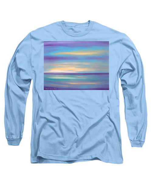 Abstract Sunset In Purple Blue And Yellow Long Sleeve T-Shirt