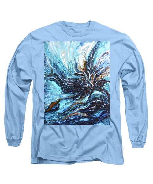 Abstract Water Dragon Long Sleeve T-Shirt