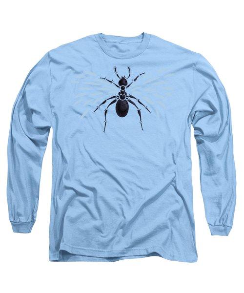 Abstract Winged Ant Long Sleeve T-Shirt by Boriana Giormova