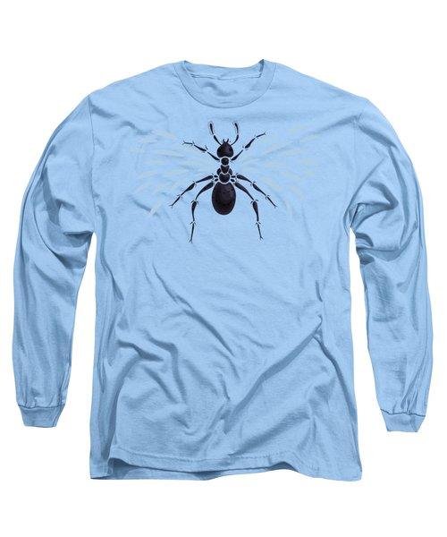 Abstract Winged Ant Long Sleeve T-Shirt