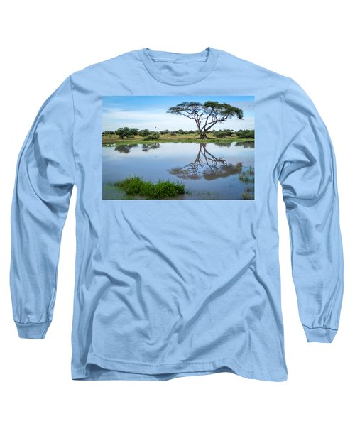 Acacia Tree Reflection Long Sleeve T-Shirt
