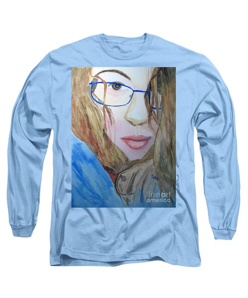 Addie In Blue Long Sleeve T-Shirt