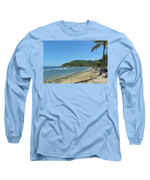 Long Sleeve T-Shirt featuring the photograph Adrenaline Beach by Carol  Bradley