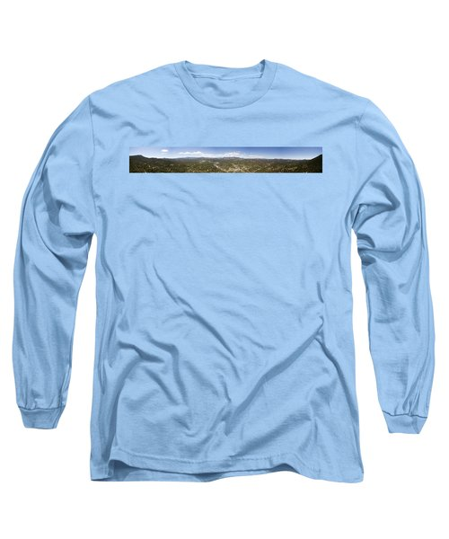Aerial Pano Of Evergreen Long Sleeve T-Shirt