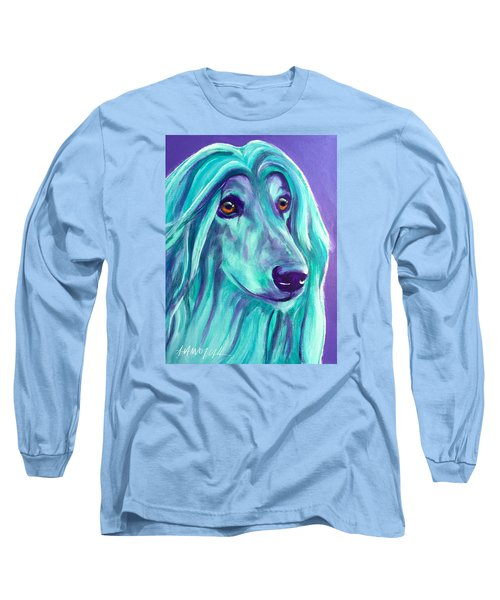 Afghan Hound - Aqua Long Sleeve T-Shirt