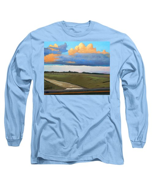 Long Sleeve T-Shirt featuring the painting After Shower by Gary Coleman