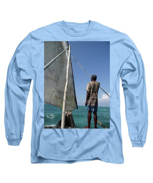 Afternoon Sailing In Africa Long Sleeve T-Shirt by Exploramum Exploramum