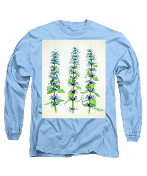 Ajuga Blooms Long Sleeve T-Shirt by Robert FERD Frank