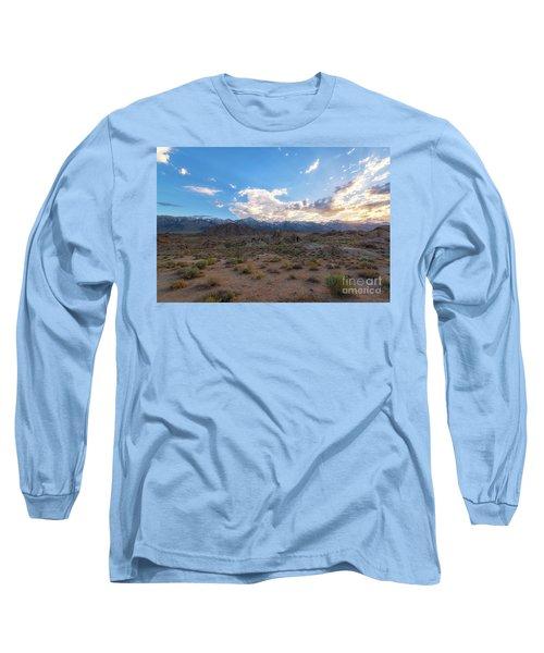 Alabama Hills Sunset  Long Sleeve T-Shirt