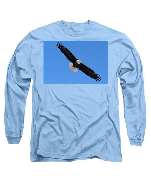 Alaska Bald Eagle Long Sleeve T-Shirt by Doug Lloyd