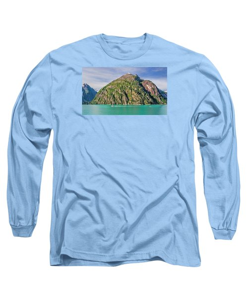 Alaskan Day Cruise Long Sleeve T-Shirt by Lewis Mann