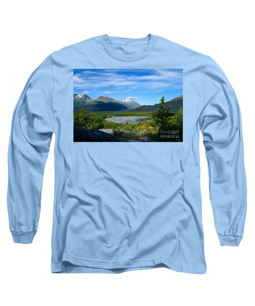 Alaska's Exit Glacier Valley Long Sleeve T-Shirt by Jennifer White