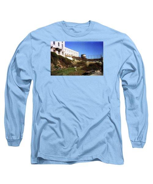 Alcatraz Water Tank Prison  Long Sleeve T-Shirt by Ted Pollard