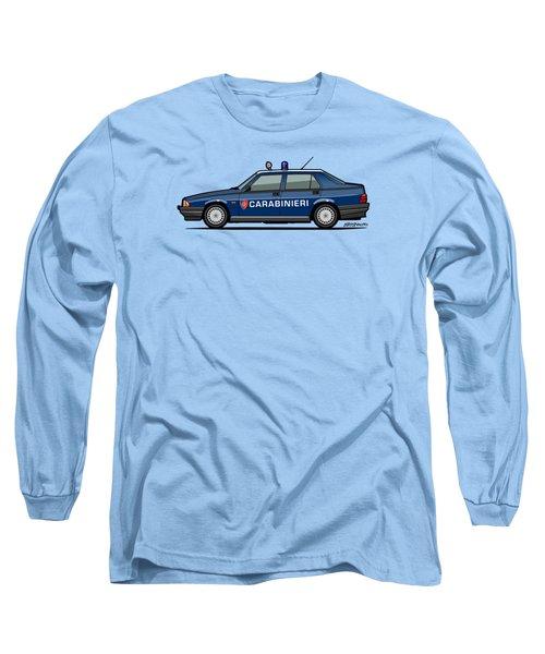 Alfa Romeo 75 Tipo 161, 162b Milano Carabinieri Italian Police Car Long Sleeve T-Shirt