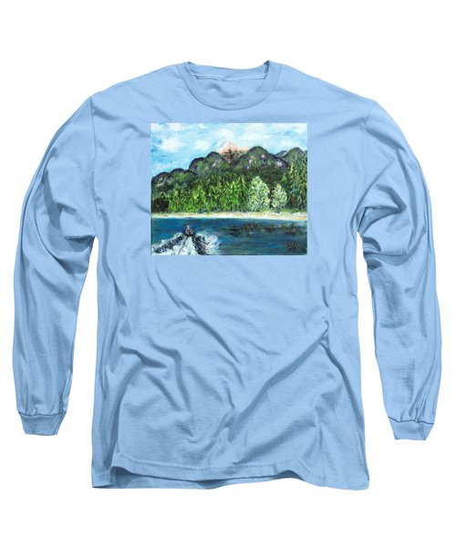 Alice Tubing On Hungry Horse  Reservoir Long Sleeve T-Shirt