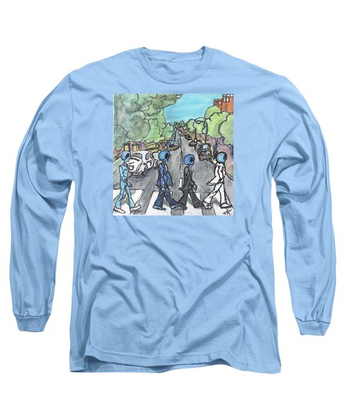 Long Sleeve T-Shirt featuring the painting Alien Road by Similar Alien
