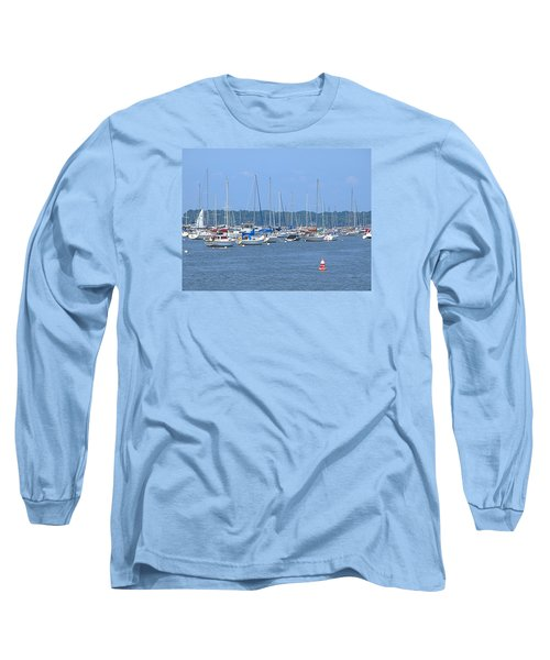 Long Sleeve T-Shirt featuring the photograph All In Line by Newwwman