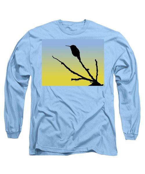 Allen's Hummingbird Silhouette At Sunrise Long Sleeve T-Shirt
