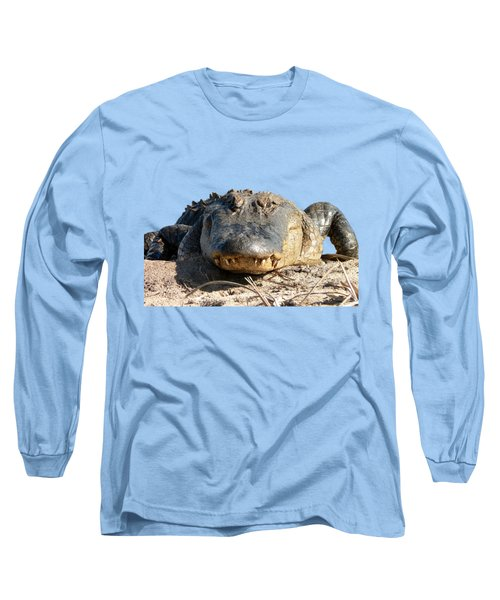 Alligator Approach .png Long Sleeve T-Shirt by Al Powell Photography USA