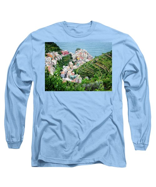 Along The Via Del Amore Long Sleeve T-Shirt by William Beuther