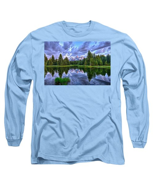 Alpenglow In The Tetons Long Sleeve T-Shirt