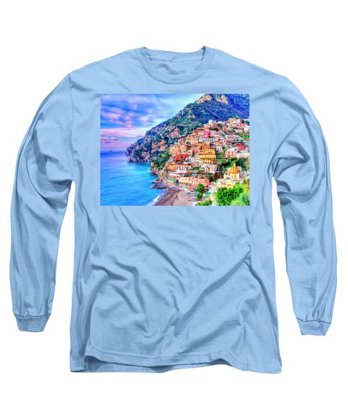Amalfi Coast At Positano Long Sleeve T-Shirt