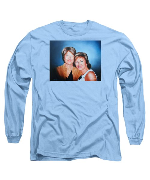 Amanda And Mom Long Sleeve T-Shirt by Mike Ivey