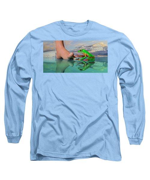 Amazon Tree Frog Curiosity Long Sleeve T-Shirt
