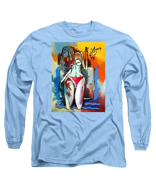 Ameeba- Nude Woman On Beach 1 Long Sleeve T-Shirt