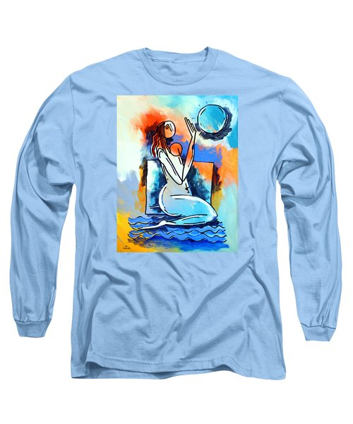 Ameeba- Nude Woman On Beach 5 Long Sleeve T-Shirt