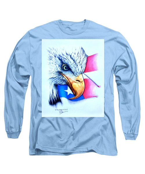 America Long Sleeve T-Shirt by Victor Minca