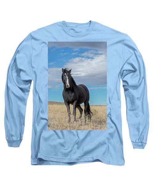 Long Sleeve T-Shirt featuring the photograph American Wild Horse by Scott Read