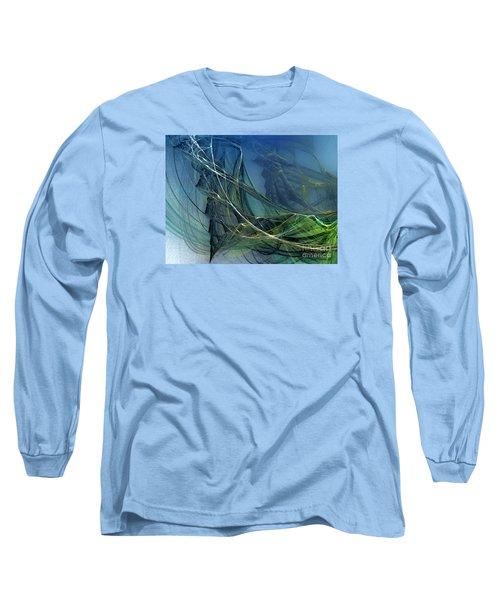 Long Sleeve T-Shirt featuring the digital art An Echo Of Speed by Karin Kuhlmann