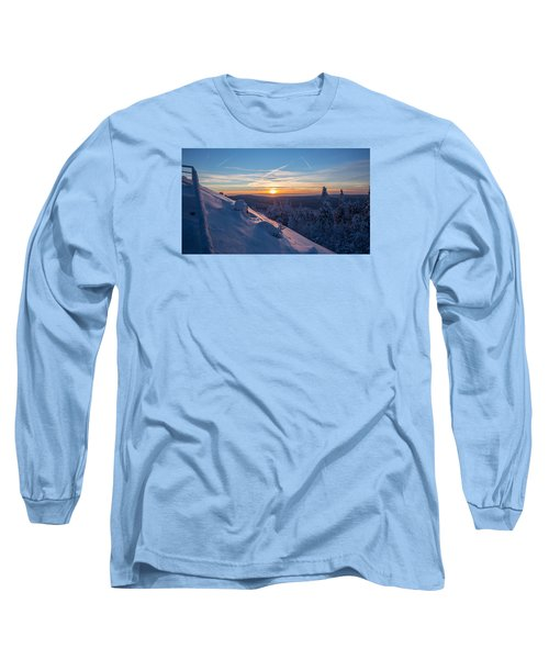 an evening on the Achtermann, Harz Long Sleeve T-Shirt by Andreas Levi