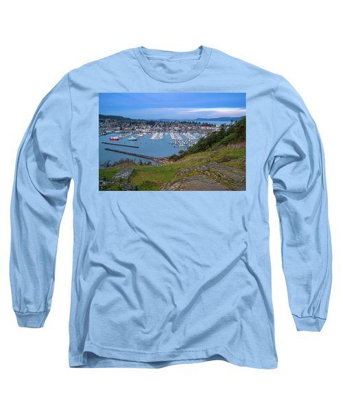 Anacortes Peaceful Morning Long Sleeve T-Shirt by Ken Stanback