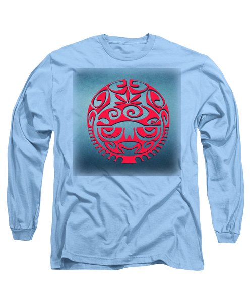 Ancient Tribal Red Mask Long Sleeve T-Shirt