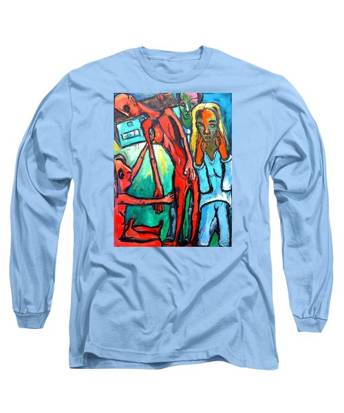 And Remember To Be Kind Long Sleeve T-Shirt by Kenneth Agnello