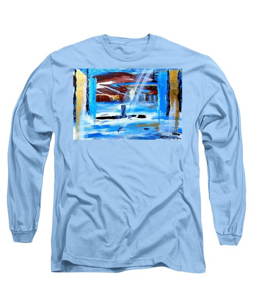 Angel Over Water Long Sleeve T-Shirt
